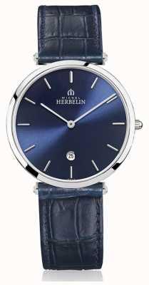 Michel Herbelin | мужские | эпсилон | синий кожаный ремешок | синий циферблат | 19406/15BL