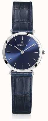 Michel Herbelin | женская | эпсилон | синий кожаный ремешок | синий циферблат | 17106/15BL