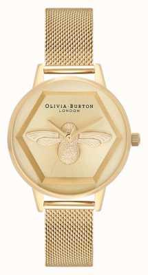 Olivia Burton | 3d пчелы благотворительные часы | браслет из желтого золота | OB16AM169