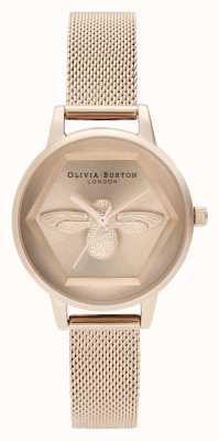 Olivia Burton | 3d пчелы благотворительные часы | браслет из розового золота | OB16AM170