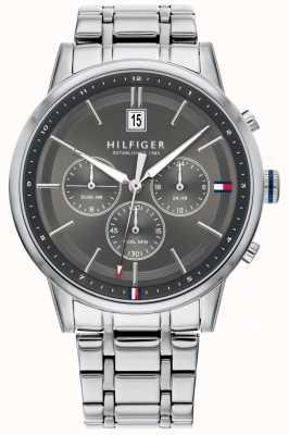 Tommy Hilfiger | мужской браслет из нержавеющей стали | серый циферблат | хронограф | 1791632