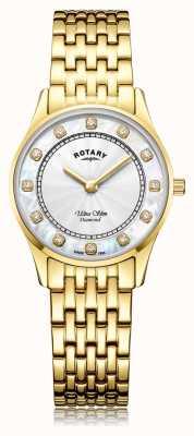 Rotary | ультратонкая позолоченная женская | перламутровый циферблат LB08303/41/D