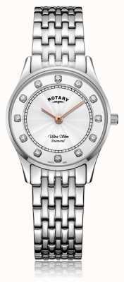 Rotary | женская ультратонкая нержавеющая сталь | перламутровый циферблат LB08300/01/D