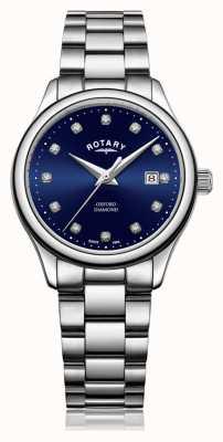 Rotary | женский оксфорд | нержавеющая сталь | синий циферблат от солнечных лучей | LB05092/05/D