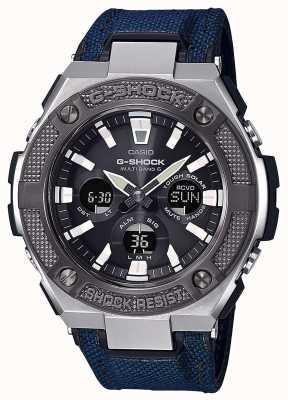 Casio | г-шок | стальная сталь | синий кордура / кожаный ремешок | GST-W330AC-2AER