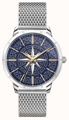 Thomas Sabo | мужской компас духа бунтаря | синий циферблат | сетчатый браслет | WA0350-201-209-42