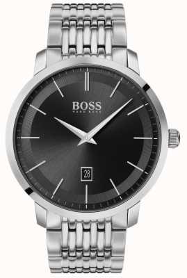 BOSS | мужская премиум классика | нержавеющая сталь | черный циферблат | 1513746