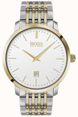 Boss | мужская | премиум классик | два тона | серебряный циферблат | 1513747
