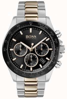 Boss | мужская | герой спорт люкс | двухцветный браслет | черный циферблат | 1513757