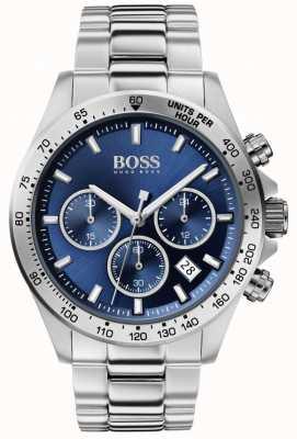 BOSS | мужской герой спорт люкс | стальной браслет | синий циферблат | 1513755