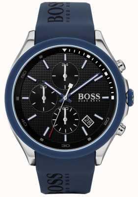 BOSS | мужская скорость | синий резиновый ремешок | черный циферблат | 1513717