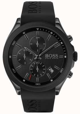 Boss | мужская скорость | черный резиновый ремешок | черный циферблат | 1513720