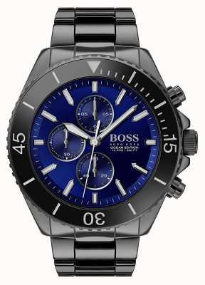 BOSS | мужское издание океана | черная нержавеющая сталь | синий циферблат | 1513743