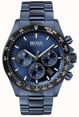 BOSS | мужская | герой спорт люкс | синий стальной браслет | синий циферблат | 1513758