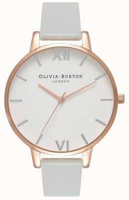 Olivia Burton | женская | большой циферблат | серый веганский ремешок | OB16BDV02