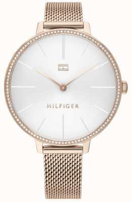 Tommy Hilfiger | женская келли | браслет из розового золота | белый циферблат | 1782115