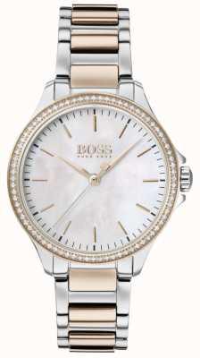 BOSS | бриллианты для нее | двухцветный браслет | перламутр 1502524