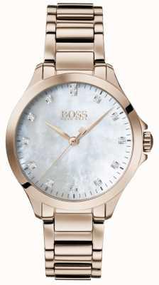 BOSS | бриллианты для нее | розовое золото | перламутр | 1502523
