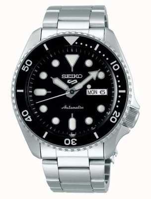 Seiko 5 спорт | спорт | автоматический | черный циферблат | нержавеющая сталь SRPD55K1