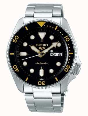 Seiko 5 спорт | спорт | автоматический | черный и желтый циферблат SRPD57K1
