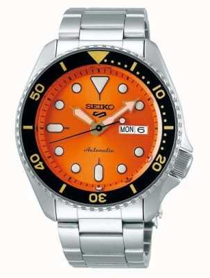 Seiko 5 спорт | спорт | автоматический | оранжевый циферблат | нержавеющая сталь SRPD59K1