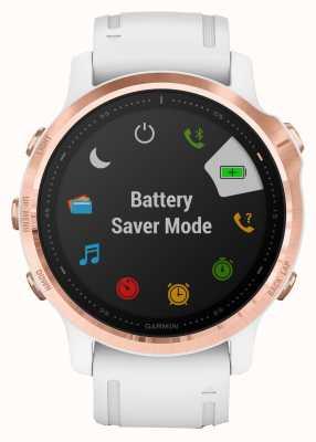 Garmin Fenix 6s про гориллу стекло   мультиспортивные умные часы   розовое золото белый ремешок 010-02159-11