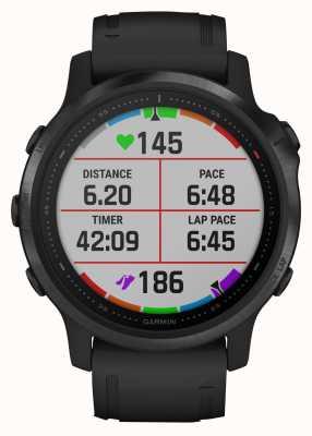 Garmin Fenix 6s pro   мультиспортивные умные часы   черный резиновый ремешок 010-02159-14