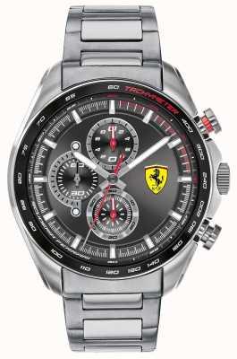 Scuderia Ferrari | мужской скоростной гонщик | браслет из нержавеющей стали | черный циферблат 0830652