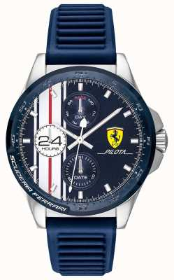 Scuderia Ferrari | мужская пилота | синий резиновый ремешок | синий циферблат хронографа | 0830660