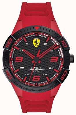 Scuderia Ferrari | верхушка мужская | красный резиновый ремешок | черный / красный циферблат | 0830664