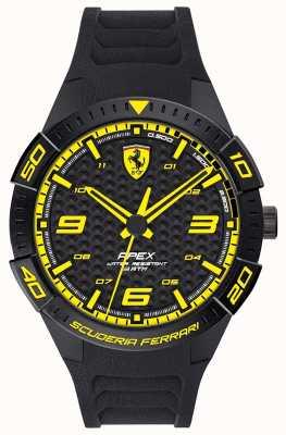 Scuderia Ferrari | верхушка мужская | черный резиновый ремешок | черный / желтый циферблат | 0830663