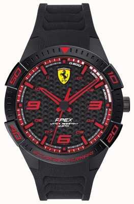 Scuderia Ferrari | верхушка мужская | черный резиновый ремешок | черный / красный циферблат | 0830662