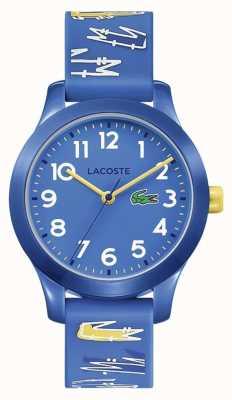Lacoste | дети 12.12 | синий резиновый ремешок с принтом | синий циферблат | 2030019