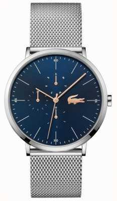 Lacoste | мужская луна мульти | браслет из стальной сетки | синий циферблат | 2011024
