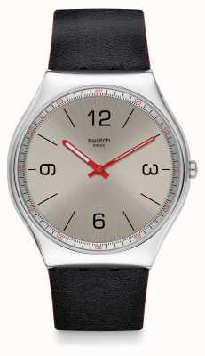 Swatch | кожа ирония 42 | часы из металлизированной кожи | SS07S104