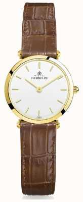 Michel Herbelin | женские | эпсилон | коричневый кожаный ремешок 17106/P11GO
