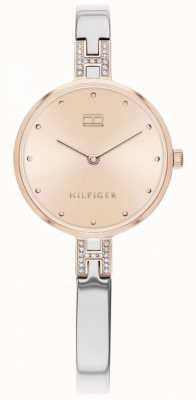Tommy Hilfiger   женский комплект   браслет из нержавеющей стали   циферблат из розового золота   1782138