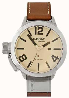 U-Boat Classico 50 вольфрамо как 2 кремовых циферблата 8091