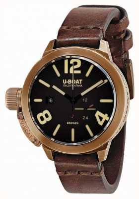 U-Boat Classico 50 бронзо коричневый ремешок 8104