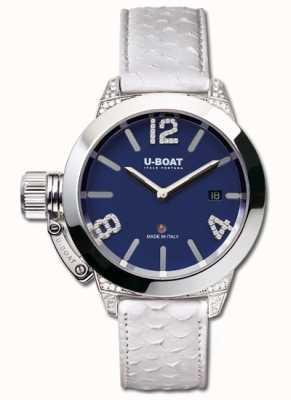 U-Boat Classico 40 ss синие белые бриллианты 7077
