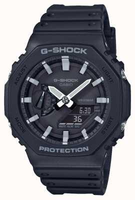 Casio | углеродный сердечник g-shock | серия восьмиугольник | черный ремешок из смолы | GA-2100-1AER
