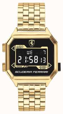 Scuderia Ferrari | мужской гидропривод | позолоченный браслет | черный циферблат | 0830705