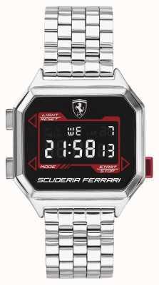 Scuderia Ferrari | мужской гидропривод | браслет из нержавеющей стали | черный циферблат | 0830703