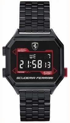 Scuderia Ferrari | мужской гидропривод | браслет с ионным покрытием | черный циферблат | 0830704