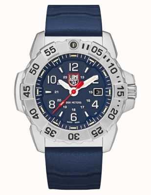 Luminox | уплотнение военно-морского флота из стали серии 3250 | синий резиновый ремешок | синий циферблат XS.3253