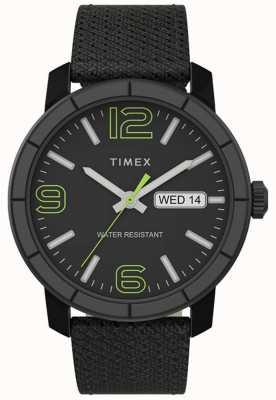 Timex | мужской мод 44мм | черный нейлоновый ремешок | черный циферблат | TW2T72500