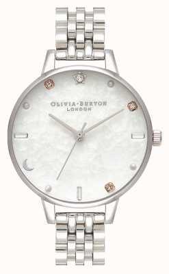 Olivia Burton | серебряный браслет с небесной звездой и луной | перламутр OB16GD30