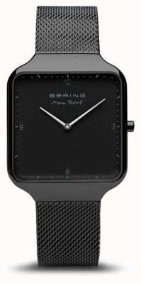 Bering | макс рене | черный стальной сетчатый браслет | черный циферблат | 15836-123