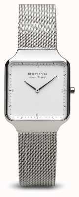 Bering | макс рене | женское полированное серебро | браслет из стальной сетки | 15832-004
