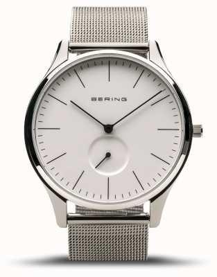 Bering | классический | мужское полированное серебро | браслет из стальной сетки | 16641-004